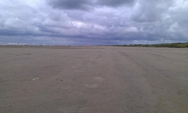 En tämligen öde strand