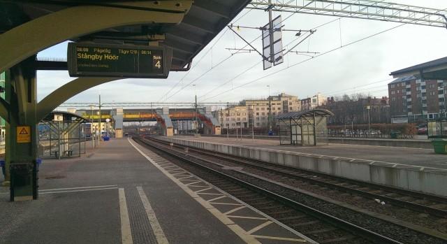 Ni som är beresta känner säkert igen Lunds stationsområde, där skulle jag inte vara.