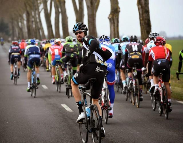 Wiggins i en ovalig roll, här under Paris-Nice. Foto: Cycling Weekly