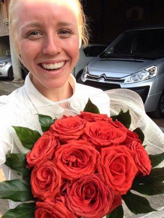 """""""Svårt att bli mycket gladare än vad jag är just nu, seger i junior world cup!!!!"""" Foto: Team Lapierre"""