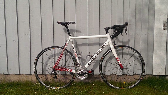 Min nya velociped, Cannondale CAAD10 Ultegra