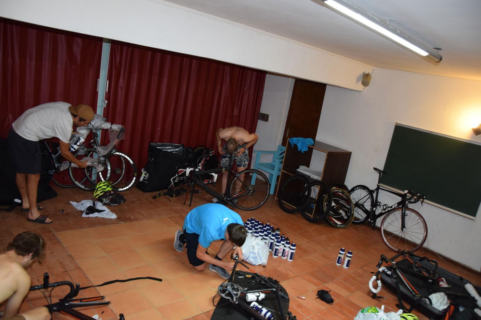 Uppackning av cyklar