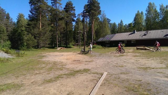 En del av teknikbanan vid Digerberget
