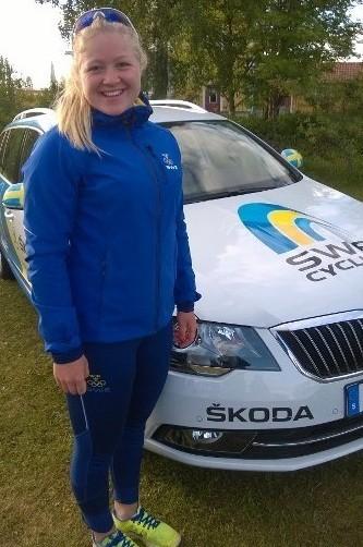Frida Knutsson är en stark tempocyklist.