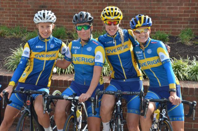 Hanna Nilsson, Sara Mustonen, Emilia Fahlin och Emma Johansson var tjejerna som försvarade de svenska färgerna under lördagen. Foto: SCF