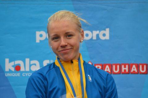 Ida Jansson blev bästa svenska i juniortjejernas tempolopp.