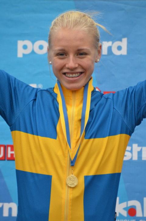 Ida Jansson blev idag fyra i juniorklassen på MTB-VM. Foto: SCF