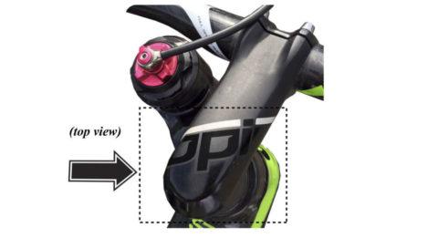 Styrstammen OPI som har brister som kan göra din cykel farlig. Lämna in hos din Cannondal-återförsäljare som kostnadsfritt lagar din cykel.