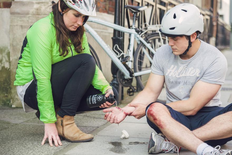 St John Ambulance bike first aid