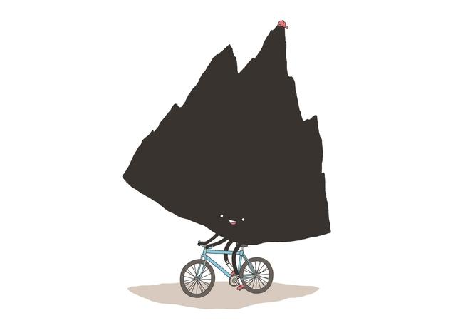 """""""Mountain Biking"""" Jag vill inte rulla en sten uppför ett berg, jag vill cykla uppför det"""