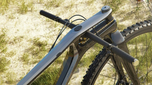 Styrets rörelser överförs till framhjulet med hjälp av en liten kedja. Olika storlek på dreven kan få en snabbare eller långsammare styrning...