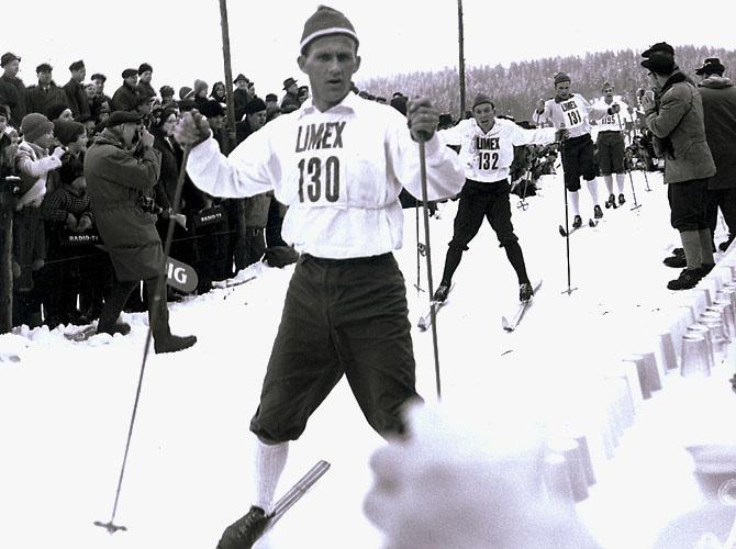 Sixten Jernberg i Vasaloppet 1960