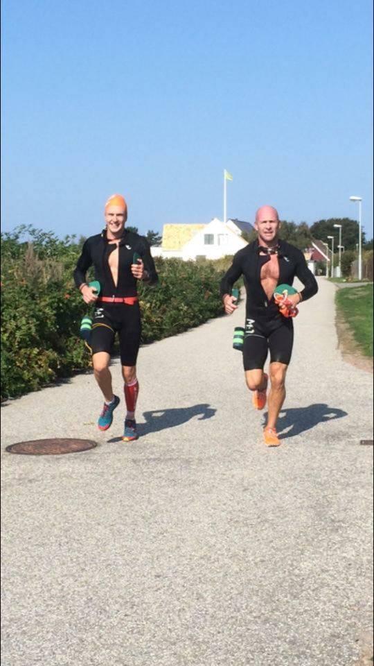 Team Arla Swimrun. André till höger och Mattias till vänster