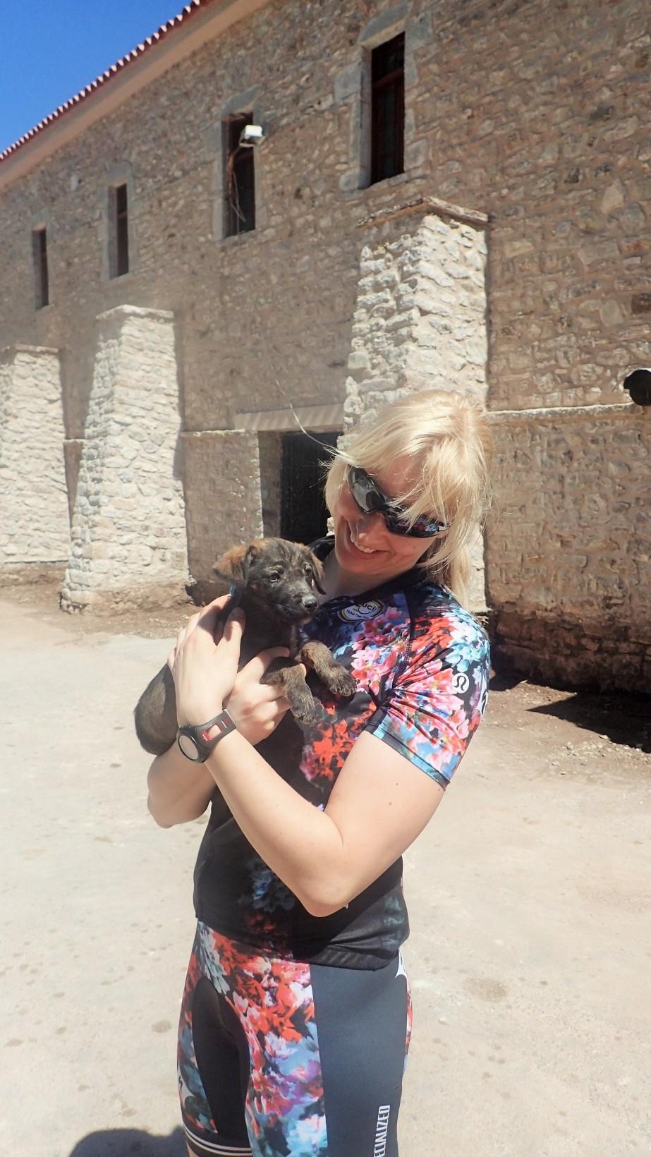 Hittade en liten kompis som bodde vid klostret.