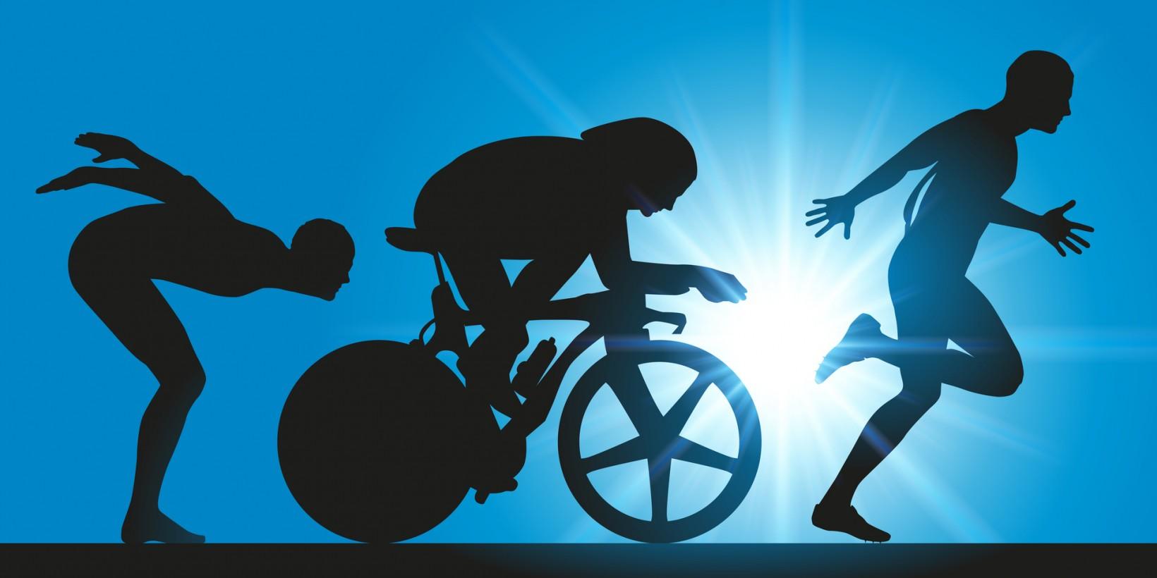 Triathlon - course - triathlte