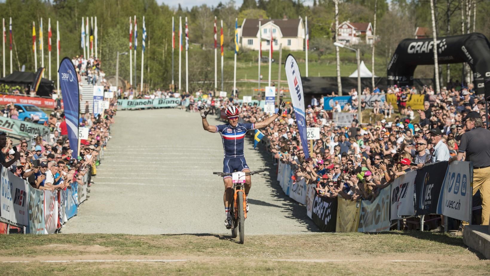 Ingen brådska över mållinjen för Absalon. Foto: Jesper Andersson