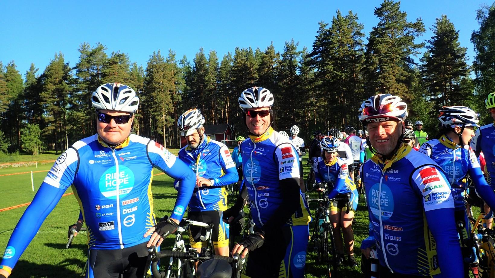 Tompa, Ove och Håkan är laddade för start.