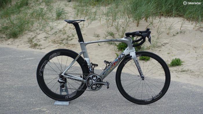 Specialized speciallackade en S-Works Venge till Marcel Kittel enbart för Tour de France. (Foto: Nick Legan/BikeRadar)