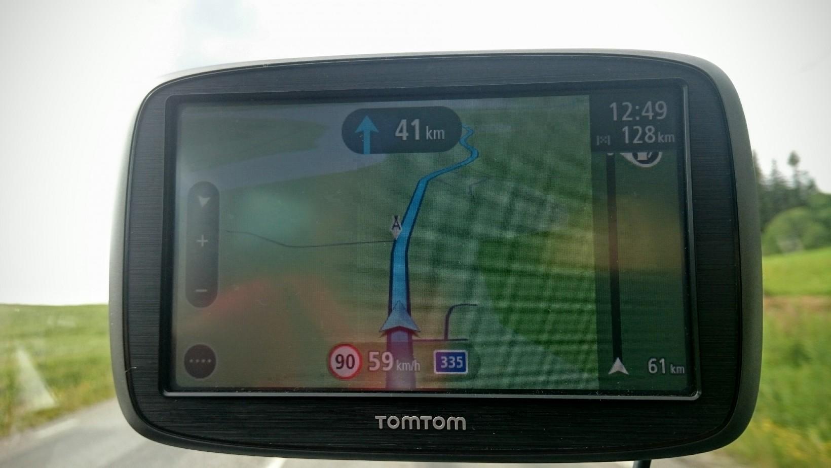 Navigeringen är oftast ganska enkel här uppe, nästa sväng om 41 km ?