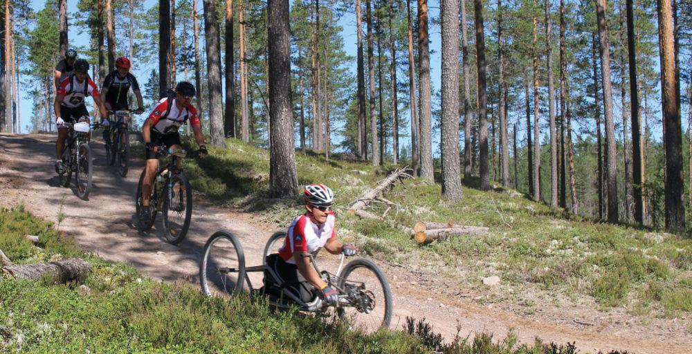 Förra året cyklade Aron de 9 milen mellan Sälen och Mora när han genomförde Cykelvasan. Foto: Malin Ingevald