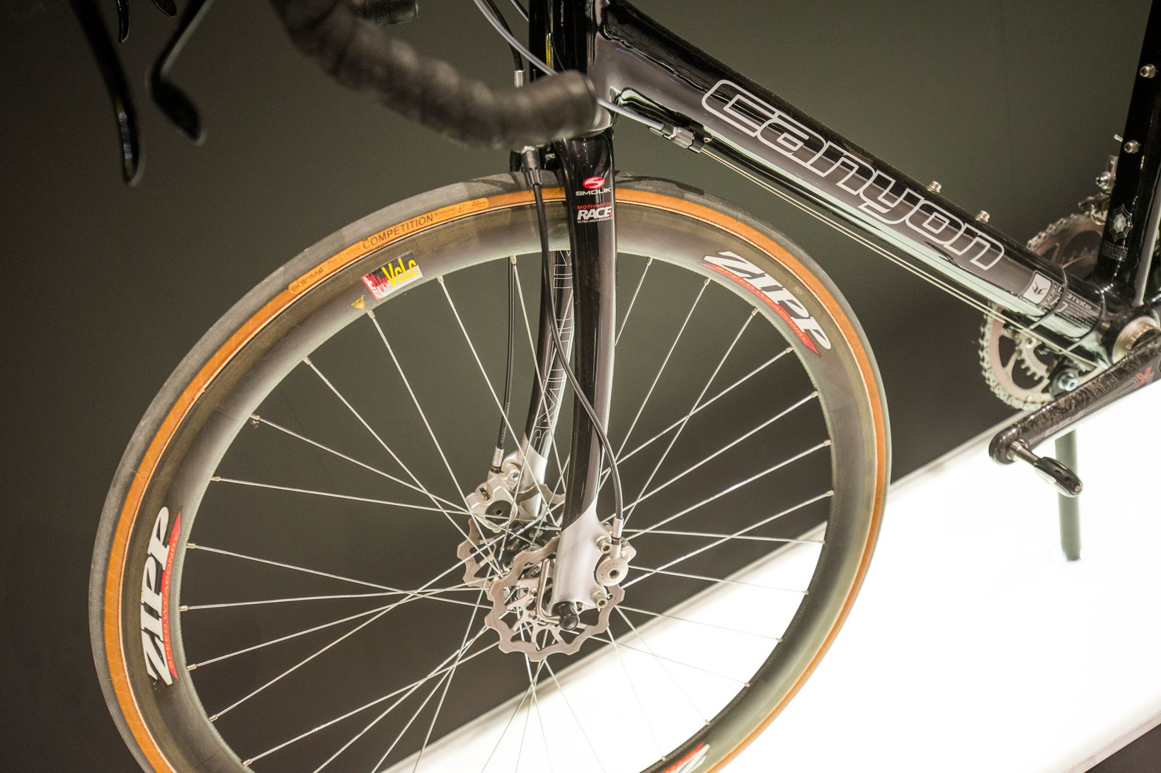 2006 byggde Canyon en konceptcykel med hydrauliska skivbromsar som vägde in under 6,8 kg. Dubbla skivor på framhjulet har vi dock inte sett sen dess! ©Canyon