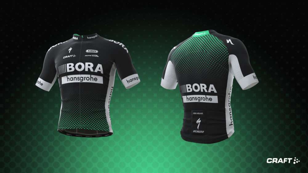 BORA-hansgrohes ordinarie tävlingströja. Foto: Craft
