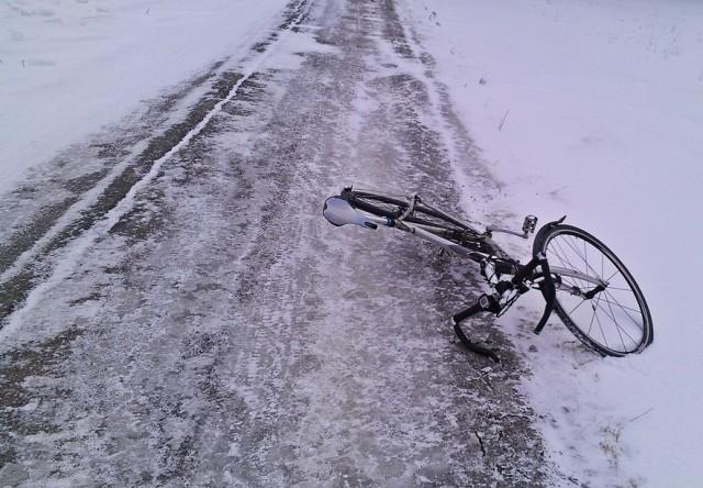 """""""En annan vinter"""" En mycket gammal bild. För tre år sen cyklade jag oavsett väder"""