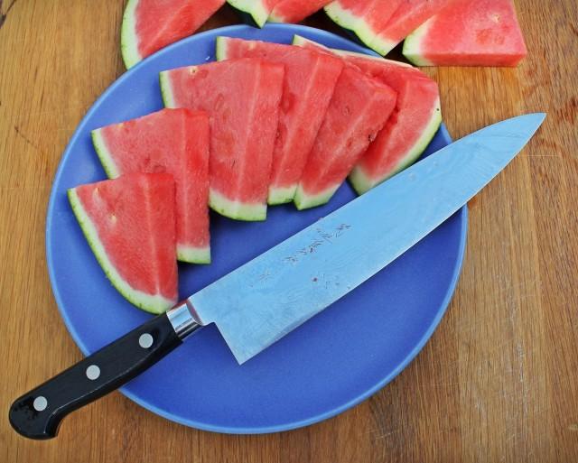 I nyttighetens namn satte jag i mig en halv vattenmelon vid hemkomsten. Mycket gott när man är törstig!
