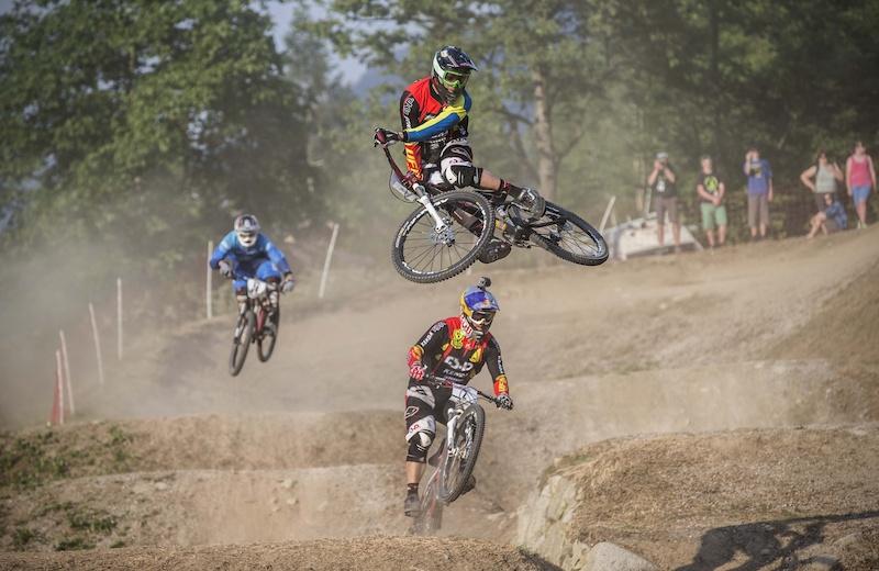 Felix Beckeman, Uddevalla cykelklubb tog VM-guld i 4X. Foto: Ingo Sven Linke