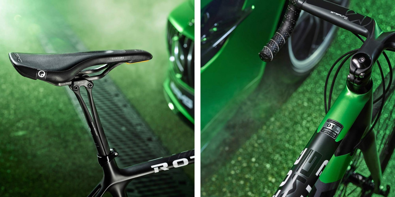 Rotwild-x-Mercedes-AMG-R-S2_Beast-of-the-Green-Hell-limited-edition_lightweight-carbon-disc-brake-road-bike_cockpit-details