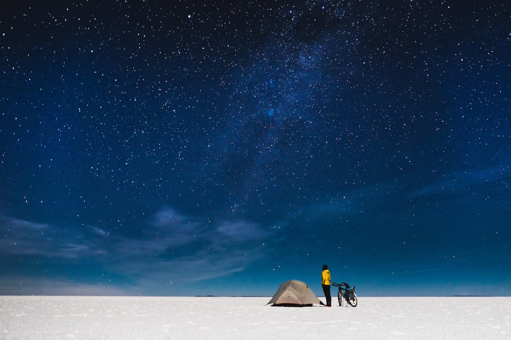 Tältplats i Bolivia.