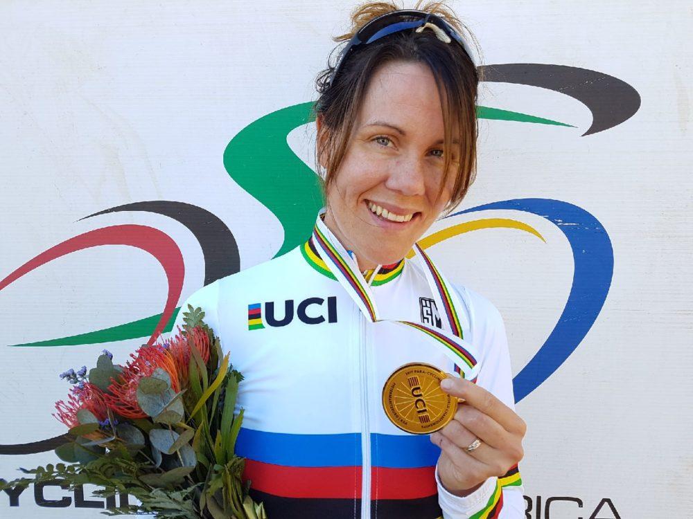 Anna Beck, regerande världsmästarinna paracykel och utnämnd till Årets kvinnliga idrottare vid parasportgalan 2018. Foto: Emma Stenberg