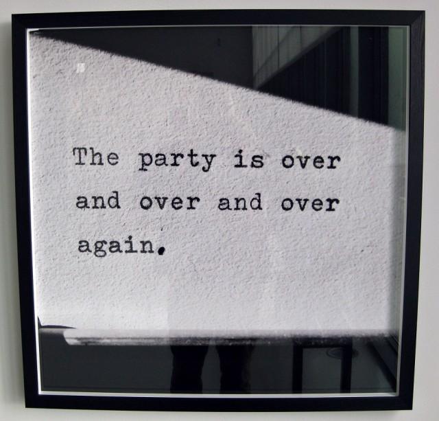 Festen är förbi...
